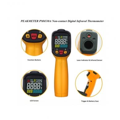 Skaitmeninis bekontaktis IR spindulių termometras PEAKMETER PM6530A 5