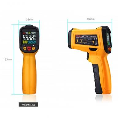 Skaitmeninis bekontaktis IR spindulių termometras PEAKMETER PM6530C 4