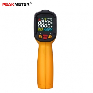 Skaitmeninis bekontaktis IR spindulių termometras PEAKMETER PM6530C 2