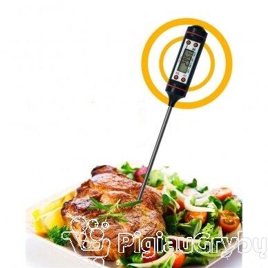 Skaitmeninis termometras maisto ir skysčių temperatūrai matuoti 5