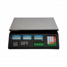 Svarstyklės su kainų skaičiavimo funkcija ir 6 LCD ekranais