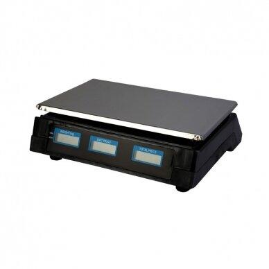 Svarstyklės su kainų skaičiavimo funkcija ir 6 LCD ekranais 2