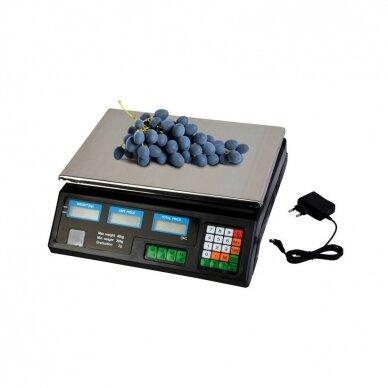 Svarstyklės su kainų skaičiavimo funkcija ir 6 LCD ekranais 6