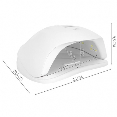 UV LED hibridinė lempa nagams Sun x, baltos sp. 8